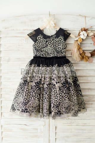 Princessly.com-K1003648-Cap-Sleeves-Gold-Lace-Black-Tulle-Wedding-Party-Flower-Girl-Dress-31