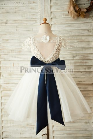 Princessly.com-K1003658-Short-Sleeves-V-Back-Lace-Tulle-Wedding-Flower-Girl-Dress-with-Navy-Blue-Belt-31