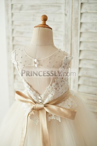 Princessly.com-K1003676-Ivory-Lace-Champagne-Tulle-Keyhole-Back-Wedding-Party-Flower-Girl-Dress-with-Belt-31
