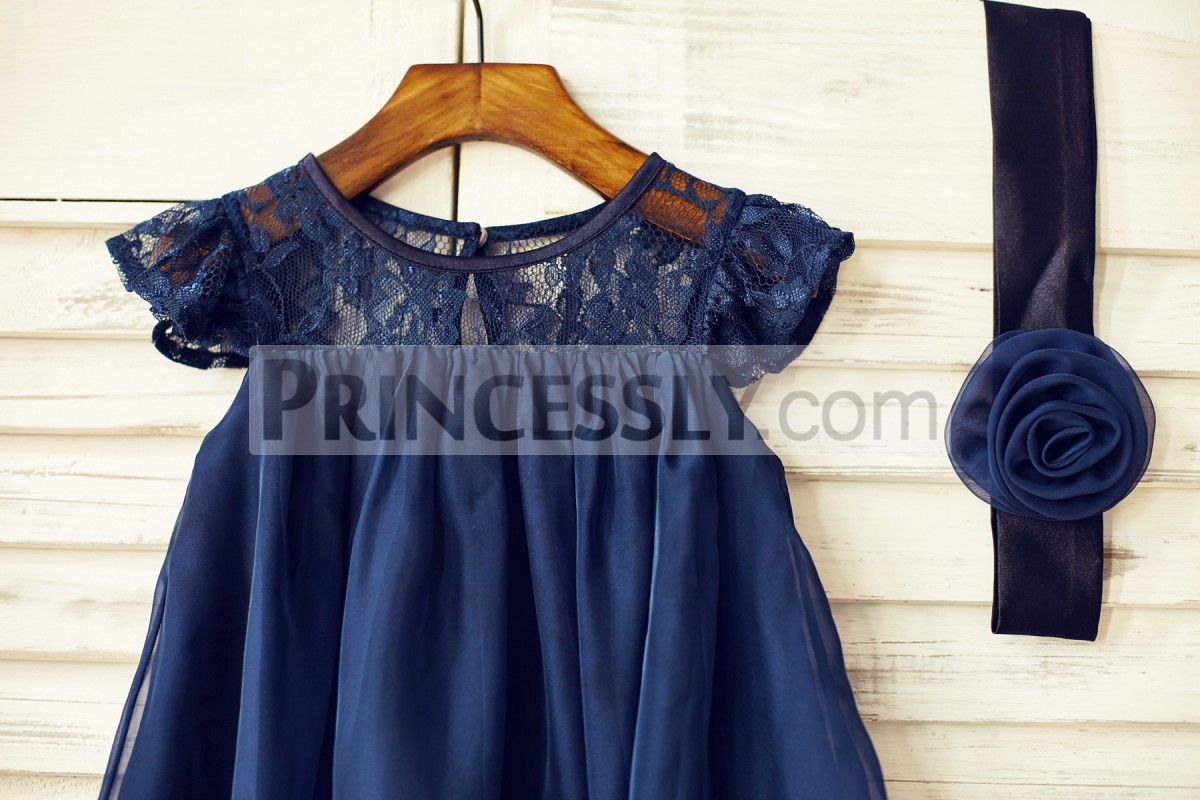 Scoop lace neck and cap sleeves