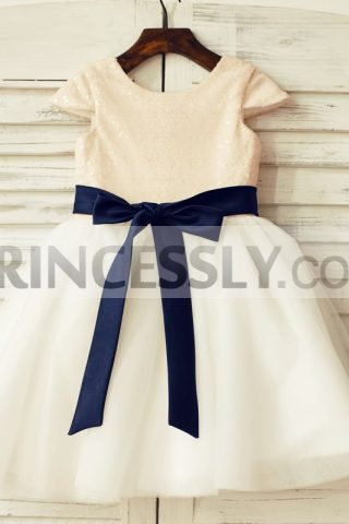 Princessly.com-K1000124-Cap-Sleeves-Blush-Pink-Sequin-Ivory-Tulle-Flower-Girl-Dress-with-navy-blue-belt-31