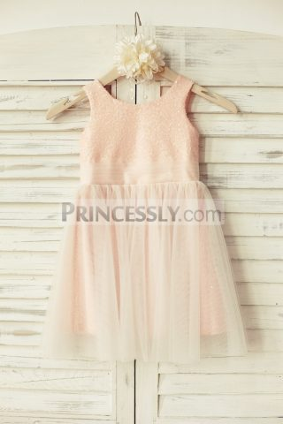 Princessly.com-K1000127-Peach-Pink-Sequin-Tulle-Flower-Girl-Dress-31