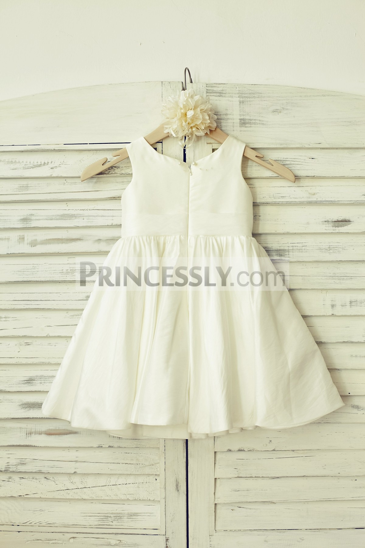 Taffeta ivory wedding baby girl dress