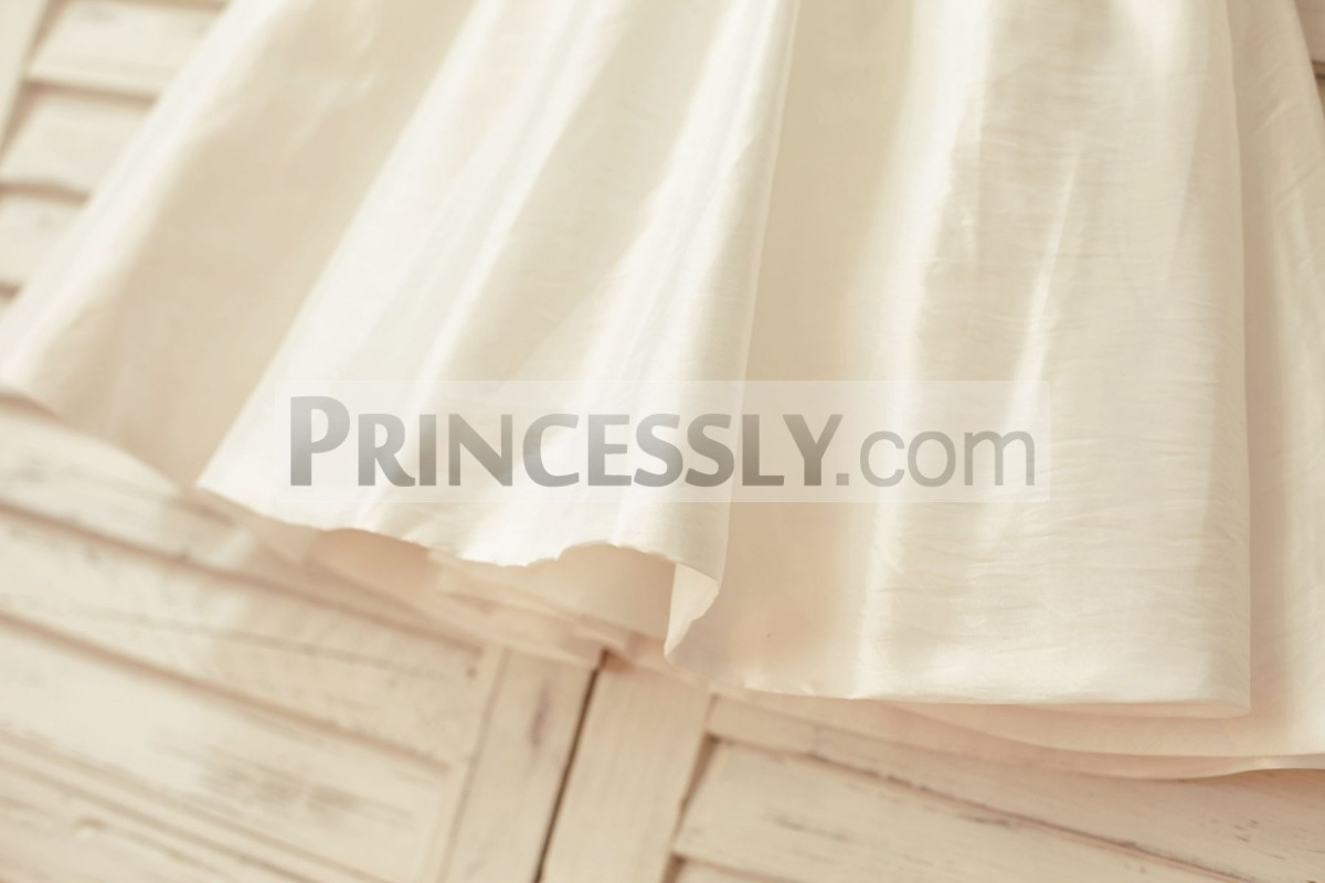 Ivory taffeta skirt