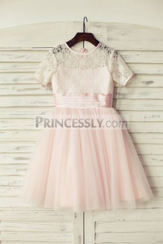 Princessly.com-K1000163-Short-Sleeves-Pink-Lace-Tulle-Flower-Girl-Dress-31