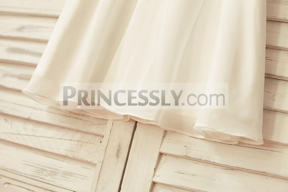 Ivory chiffon skirt