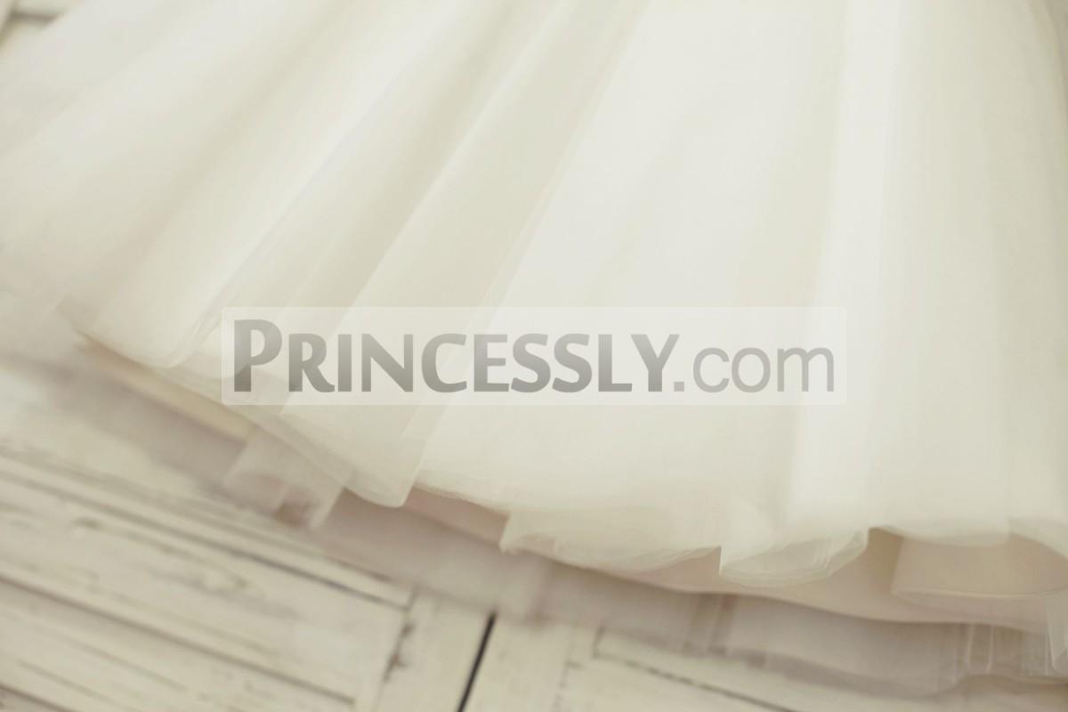 Puffy white tulle skirt