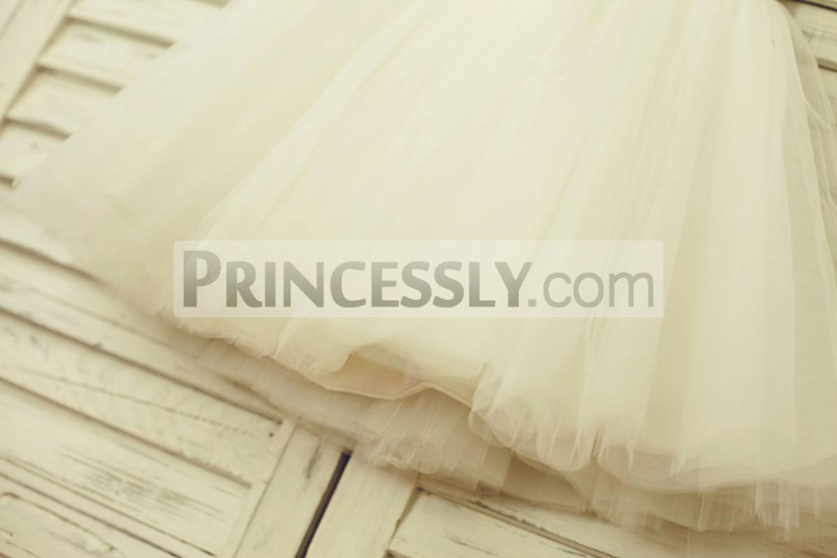 Ivory tulle skirt