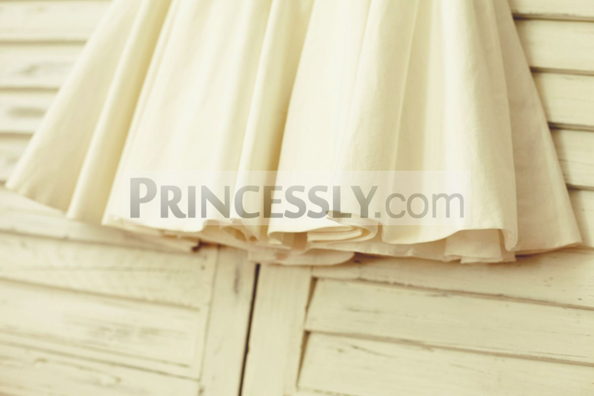 Ivory cotton skirt