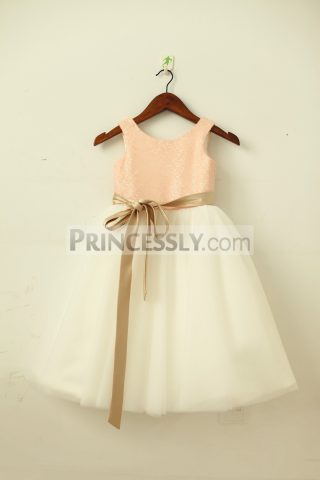 Princessly.com-K1003203-Blush-Pink-Gold-Sequin-Ivory-Tulle-Flower-Girl-Dress-with-navy-champagne-sash-31