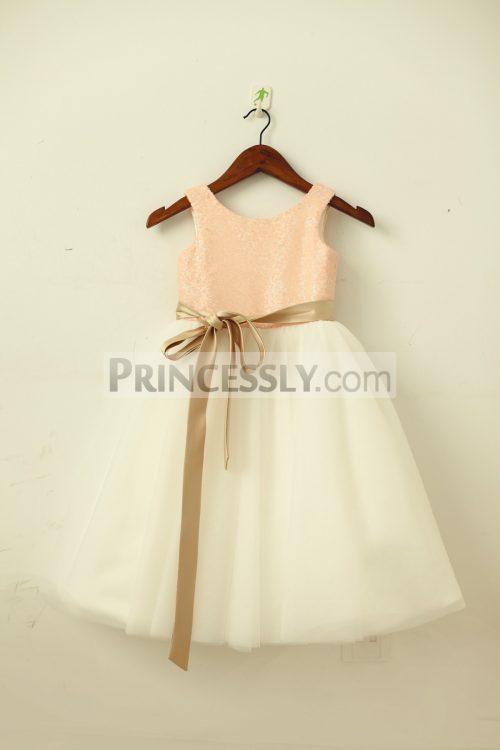Princessly.com-K1003203-Blush-Pink-Gold-Sequin-Ivory-Tulle-Flower-Girl-Dress-with-navy-champagne-sash-31