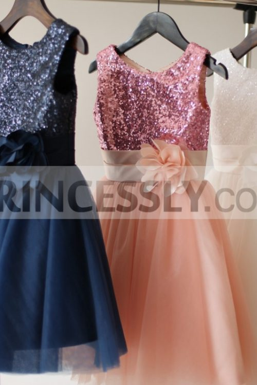 Princessly.com-K1003206-White-Navy-Blue-Pink-Sequin-Tulle-Flower-Girl-Dress-with-matching-sash-flower-31