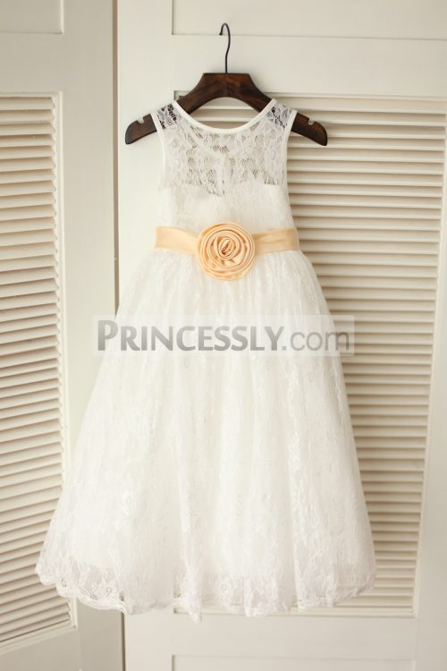 Princessly.com-K1003227-Ivory-Lace-Flower-Girl-Dress-with-Champagne-Flower-Sash-Belt-31