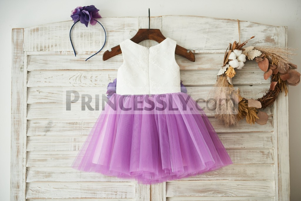 Lace tulle wedding little girl dress