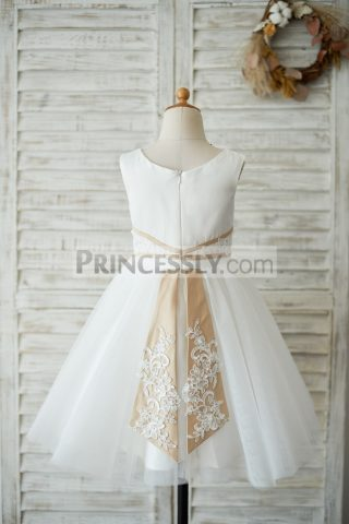 Princessly.com-K1003544-Ivory-Satin-Tulle-Wedding-Flower-Girl-Dress-with-Champagne-Belt-Tail-31