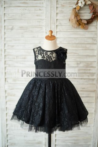 Princessly.com-K1003549-Black-Lace-Tulle-V-Open-Back-Wedding-Flower-Girl-Dress-with-Flower-31