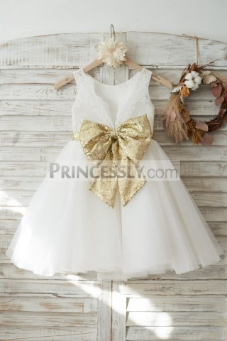 Princessly.com-K1003719-Ivory-Lace-Tulle-V-Back-Wedding-Flower-Girl-Dress-with-Gold-Sequin-Bow-31