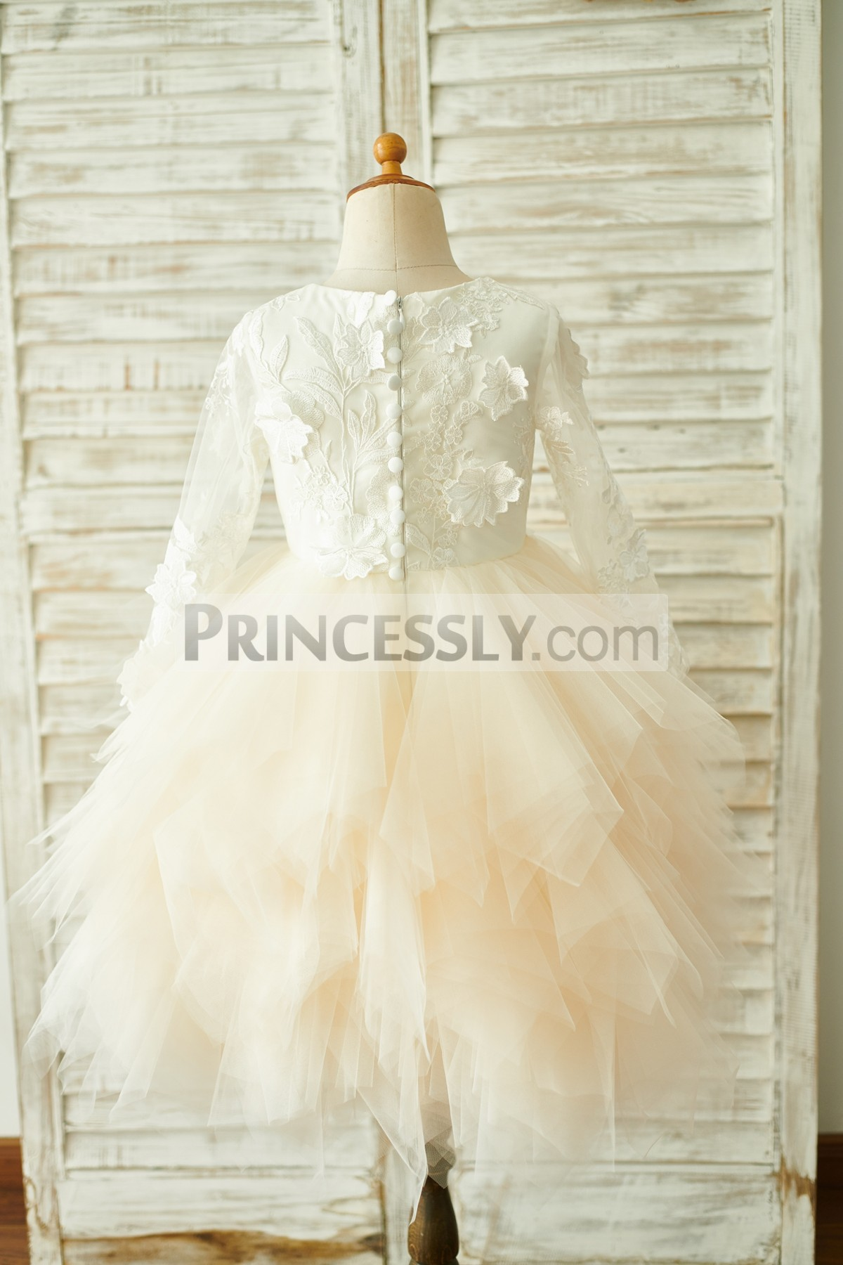 Lacd tulle wedding baby girl dress