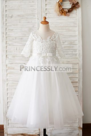 Princessly.com-K1003873-Princess-Short-Elbow-Sleeves-Ivory-Lace-Tulle-Wedding-Flower-Girl-Dress-31