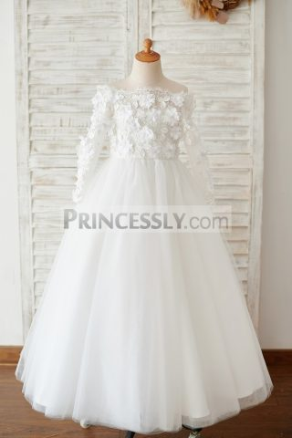 Princessly.com-K1003878-Ivory-Lace-Tulle-Off-Shoulder-Long-Sleeves-Wedding-Flower-Girl-Dress-with-3D-Flowers-32