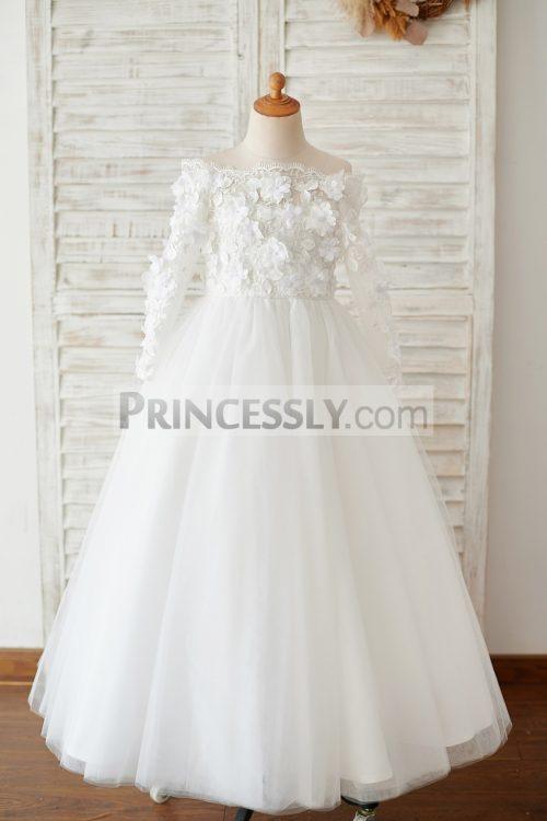 Princessly.com-K1003878-Ivory-Lace-Tulle-Off-Shoulder-Long-Sleeves-Wedding-Flower-Girl-Dress-with-3D-Flowers-32