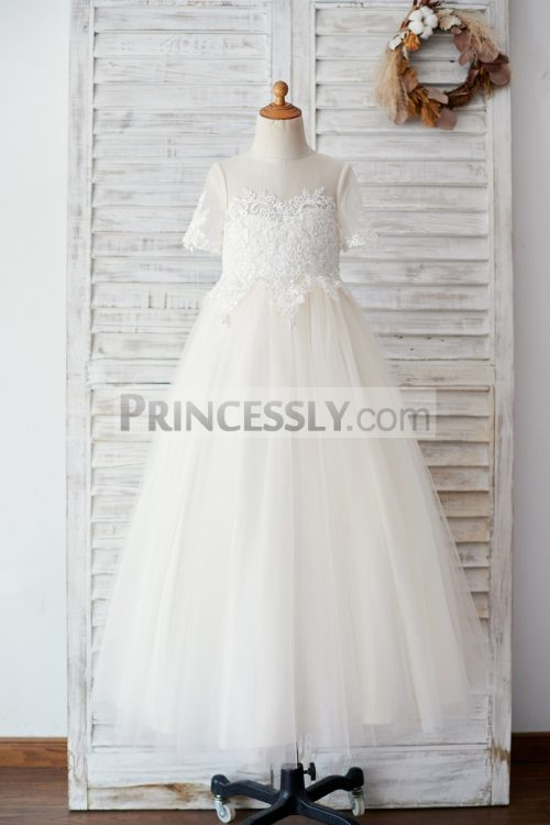 Princessly.com-K1003881-Ivory-Lace-Champagne-Tulle-Short-Sleeves-Wedding-Flower-Girl-Dress-31