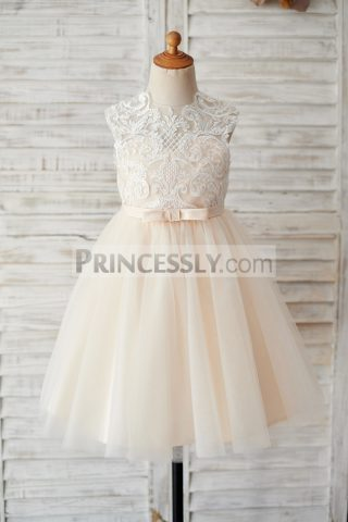 Princessly.com-K1003887-Champagne-Tulle-Ivory-Lace-Keyhole-Back-Wedding-Flower-Girl-Dress-33