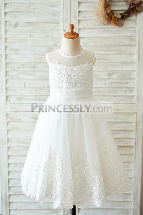 Princessly.com-K1003901-Ivory-Lace-tulle-Wedding-Flower-Girl-Dress-with-bows-32