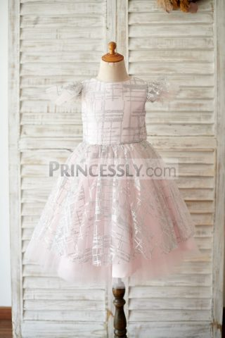 Princessly.com-K1003910-Princess-Cap-Sleeves-V-Back-Pink-Tulle-Silver-Sequin-Wedding-Flower-Girl-Dress-31 (1)