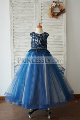 Princessly.com-K1003918-Navy-Blue-Tulle-Organza-V-Back-Wedding-Flower-Girl-Dress-with-Beading-31