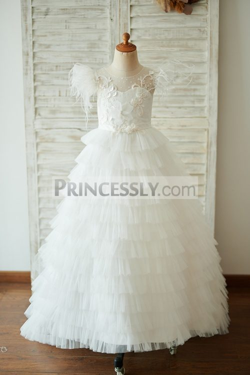 Princessly.com-K1003921-Ivory-Tulle-Cap-Sleeves-V-Back-Cupcake-Wedding-Flower-Girl-Dress-with-Train-32